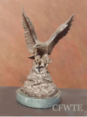 Thundering Sky Bronze Eagle Sculpture