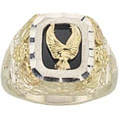 Ladies Sterling Silver Eagle Ring