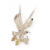 Sterling Silver Diamond Cut Eagle Pendant