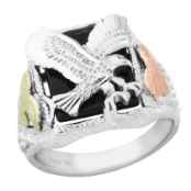 Sterling Silver Men's Eagle Ring