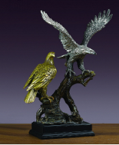 Two of a Kind Eagle Sculpture