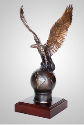 """On Top"" Bronze Eagle Sculpture"