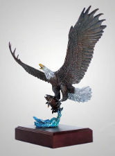 """Lightning Strikes"" Eagle Sculpture"