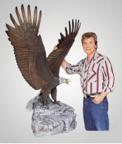 """Peak Performer"" Eagle Sculpture"