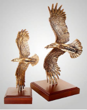 Strike Now Eagle Sculpture