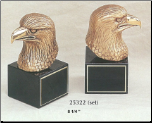 Eagle Bust Bookends (SKU: 25322)