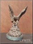 Thundering Sky Bronze Eagle Sculpture (SKU: AE0102)