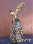Trophy Catch Bronze Eagle Sculpture (SKU: AE0115)