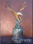 Overshadow Bronze Eagle Sculpture (SKU: AE0116)