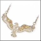 Sterling Silver Black Hills Gold Eagle Pendant (SKU: MR2025)