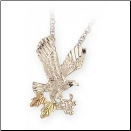 Sterling Silver Diamond Cut Eagle Pendant (SKU: MR2249)