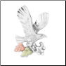 Sterling Silver Diamond Cut Eagle Pin (SKU: MR6249)