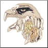 Sterling Silver Eagle Head Tie Tack (SKU: MR655)