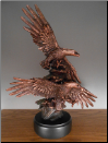 Double Soaring Eagles Statue (SKU: M-01004)