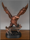Eagle on Guard Statue (SKU: M-11014)