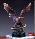 Landing Eagle Sculpture