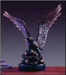 Eagle with Two Baby Eagles Sculpture (SKU: M-51116)