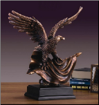 Perched Eagle on American Flag (SKU: M-51127)