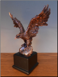 Perched Eagle Sculpture (SKU: M-51159)