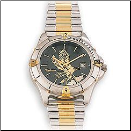 Men's Silver Tone Black Hills Gold Eagle Watch (SKU: WR21601)