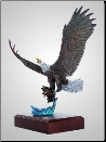 """Lightning Strikes"" Eagle Sculpture (SKU: A144)"