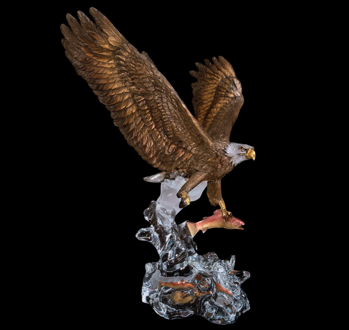 Bald Eagle Sculptures by Starlite Originals