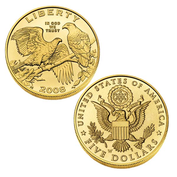 5 Dollar Gold Eagle Coin