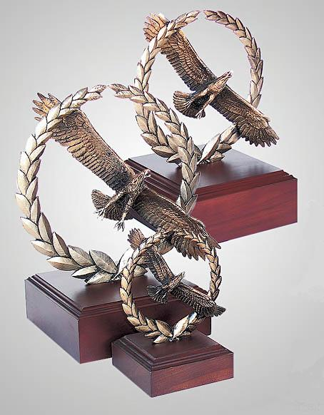 Bronze Eagle Sculptures