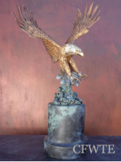 Overshadow Bronze Eagle Sculpture