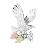 Sterling Silver Diamond Cut Eagle Pin