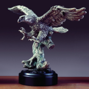 Pewter Eagle Statue