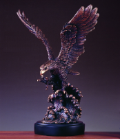 Eagle on Wave Statue
