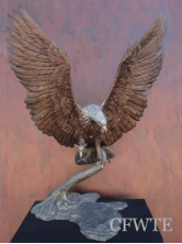 Thunder & Lightning (II) Bronze Eagle Sculpture