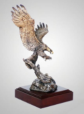Focused Eagle Sculpture