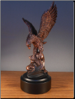 Eagle with a Fish Statue (SKU: M-11001)