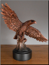 Perched Eagle Statue (SKU: M-11009)
