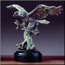Pewter Eagle Statue (SKU: M-41113)