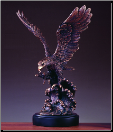 Eagle on Wave Statue (SKU: M-51111)