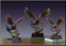 Bald Eagle Sculpture on American Flag (SKU: M-51163)