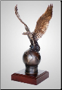 """On Top"" Bronze Eagle Sculpture (SKU: A106)"