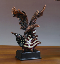 Perched Eagle on American Flag (SKU: M-51156)